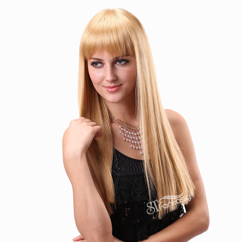 Long Straight Blonde Wigs For Women From China Wigs Factory