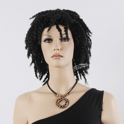"16"" Kinky twist afro wig for black women with synthetic fiber"