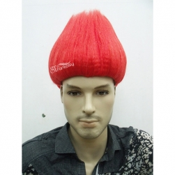 New style synthetic hair dark red clown wigs