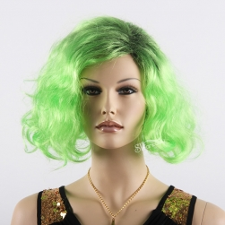 Fashionable fluorescent color high temperature fiber wig for party