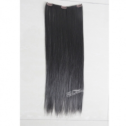 Silky straght synthetic clip in hair extension with 10 pieces