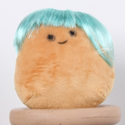 ST new product high temperature fiber toy's wig light blue color