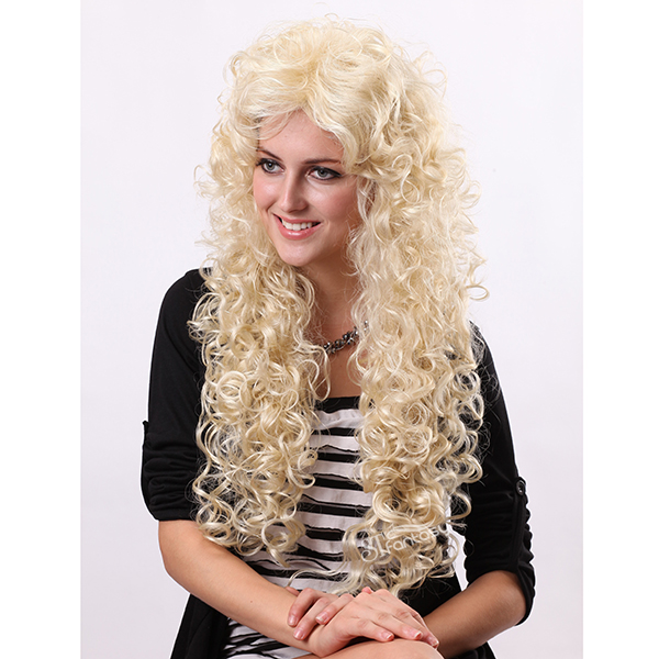 Afro style super long fluffy real looking practical fake wigs