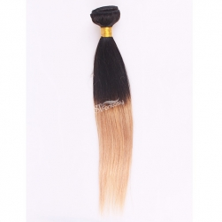 Ombre straight brazillian human hair weft