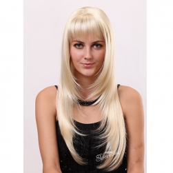 America hot sale highlight blonde color synthetic hair wigs