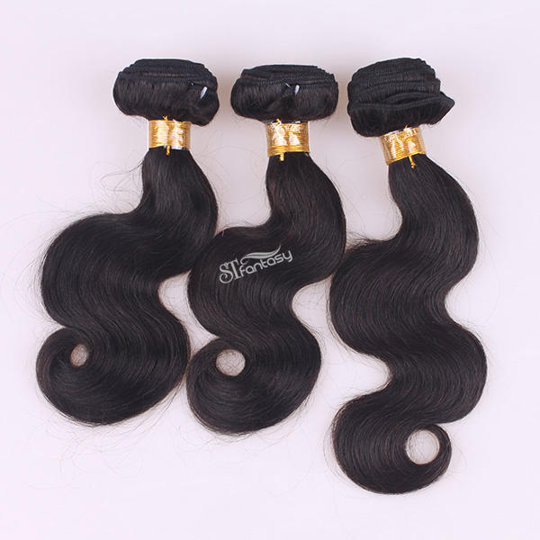 ST wholesale body wave virgin brazillian human hair extension