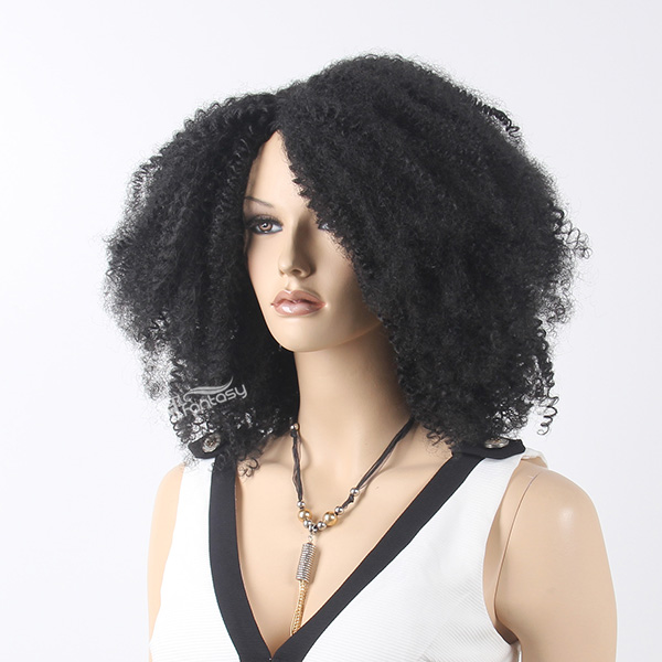 "ST 2016 hot sale 18"" fluffy synthetic hair afro wig for women"