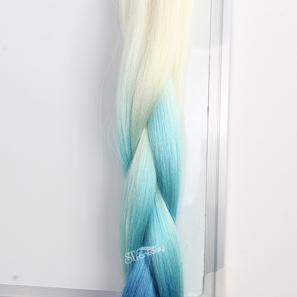 ST colorful ombre blue synthetic hair braid wholesale