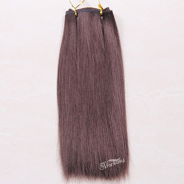 2017 new product brown straight synthetic hair extension