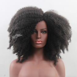 Fluffy synthetic hair afro wig for black women factory wholesale