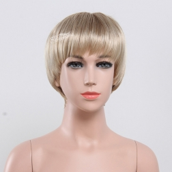 Blonde hair short wig for white children wholesale price