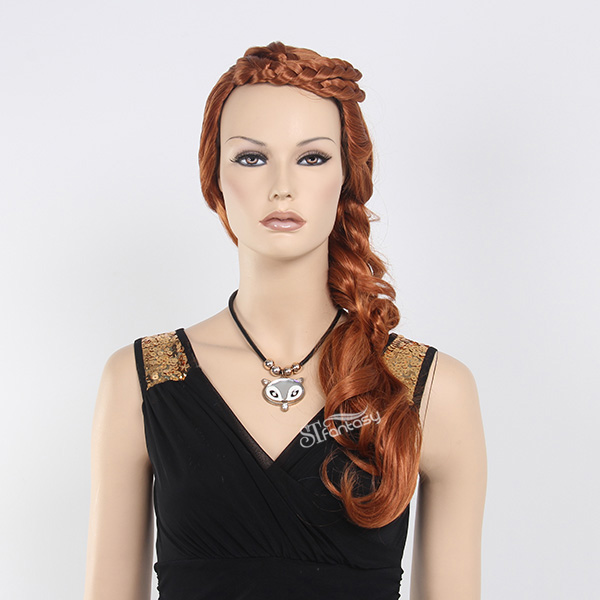European american style golden hair mannequin braiding wig with synthetic hair
