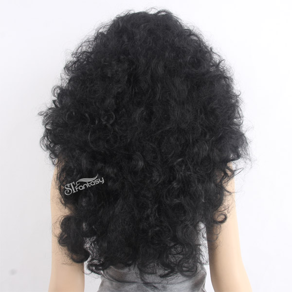 "28"" SEXY ladies afro wigs synthetic lace front wigs for black women"