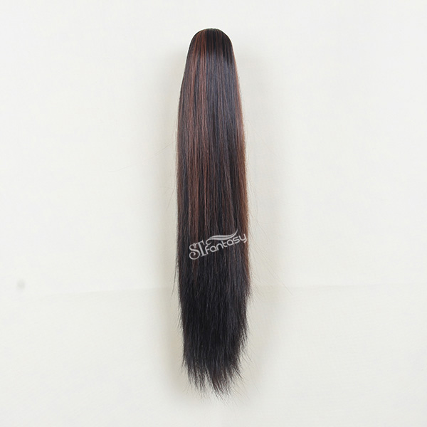 China Synthetic Hair Ponytail Manufacturer Wholesale 60cm Straight