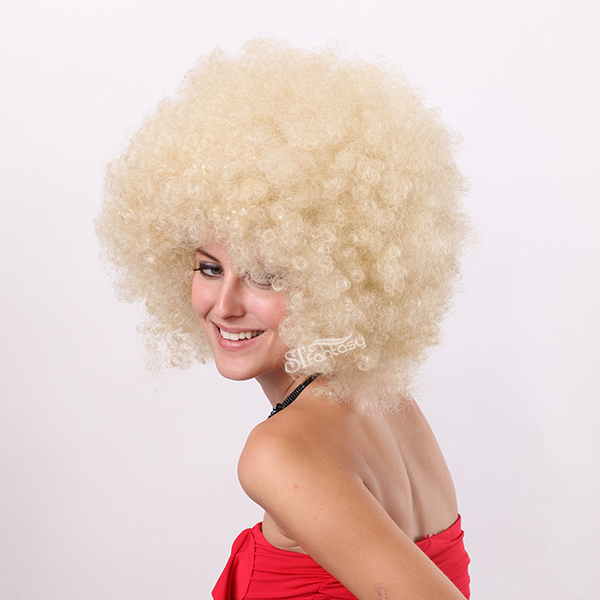 ... Afro style kinky curly african amrican wig companies professional  synthetic fake wig making supplier ... 6ef78ead1741