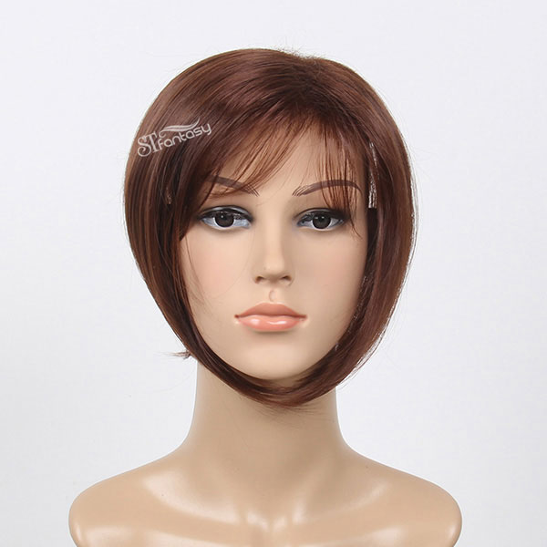 2016 ST HOT sale toupee product short style brown straight synthetic hair toupee