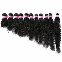 ST wholesale kinky curly black peruvian remy human hair weaving extension
