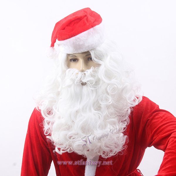 White Santa Claus wigs for Christmas party