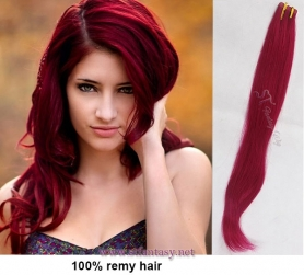 Wholesale trendy color rose red double sided adhesive tape human hair extension
