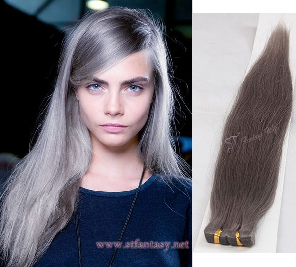 St Top Quality Skin Tape Hair Extensions Gray Hair Suppliers China
