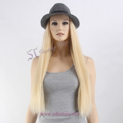 2017 newest synthetic hair secret long hat wig for bald women