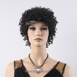 Factory wholesale synthetic hair short curly wig for black women