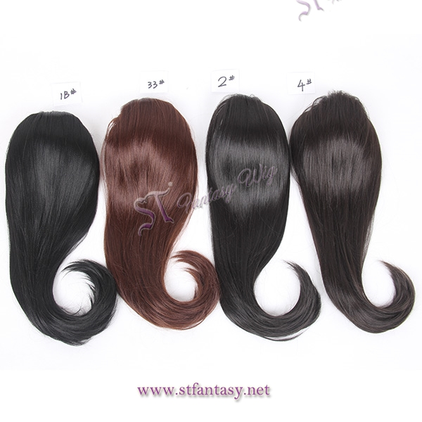 Low price many colors hairpiece black women synthetic clip in ponytails ... 418fdeeda