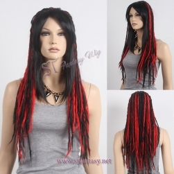 Wigs China long dreadlocks multi color handmade wig for african women