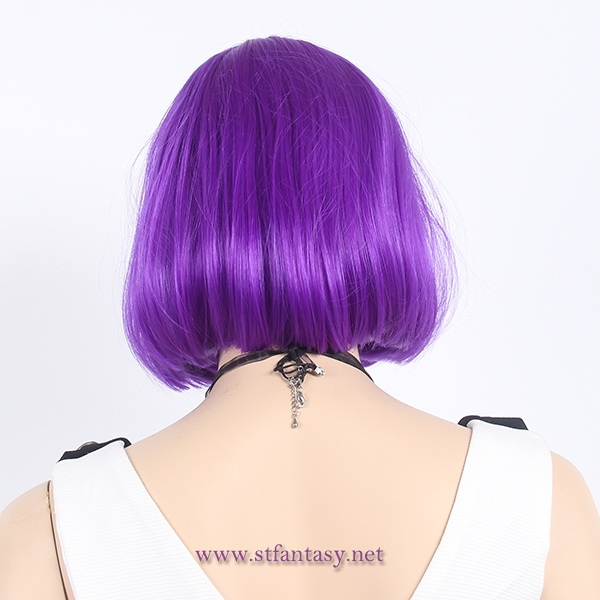Low price $4.2 purple bob wig short party wig for women from china wig manufacturer