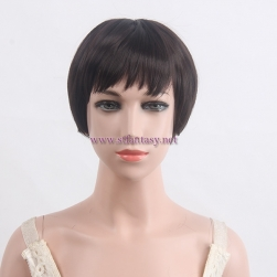 "China Wholesale Wig Suppliers High Quality 11"" Natural Brown Short Bob Kid Synthetic Hair Wigs"