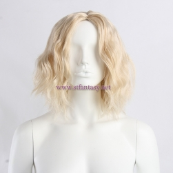 Wig Supplier In China Short Curly Bob Middle Part Yaki Blonde 2525 Fluffy Sexy Heat Resistant Synthetic Hair White Mannequin Wig Stand