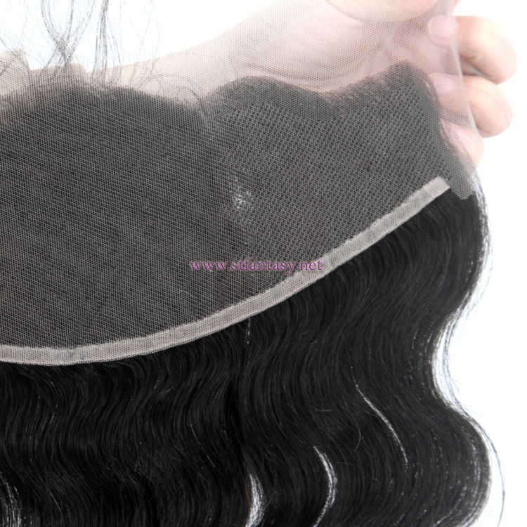 13*4 Loose Wave Natural Color 1b 100 Remy Brazilian Human Hair Lace Closure Women Men'S Hair Toupees