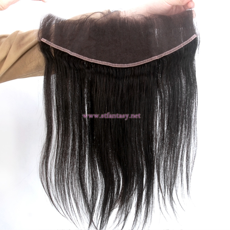 Women Hair Toupee Silky Straight 100 Percent Indian Human Hair 13*4 Swiss Quality Lace Closure In Natural Black Color