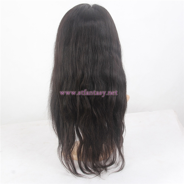 Natural Color Long Straight 100% Brazilian Remy Virgin Human Hair 360 Lace Frontal Wig