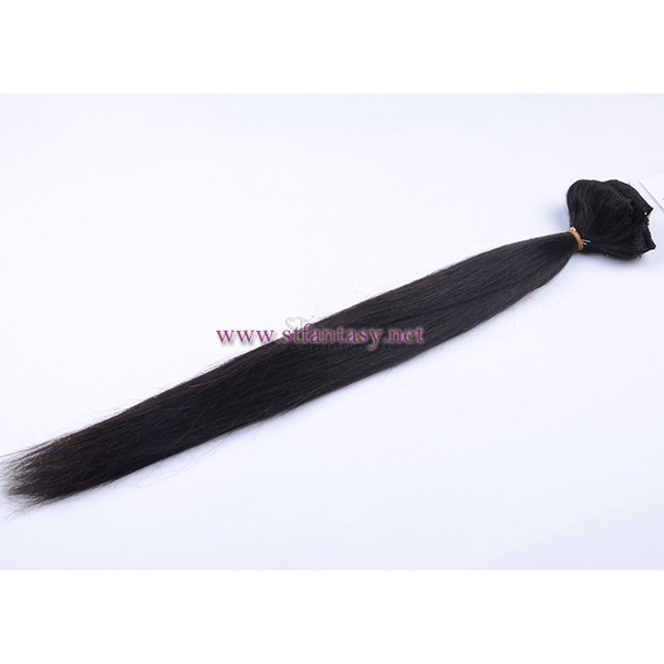 China Wholesaler Full Head 100% Virgin Remy Brazilian Human Hair Clip In Hair Extension 7 Pieces For Women