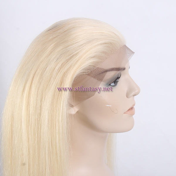 Hot Sale Hair Product 24inch 360 Lace Frontal With European Human Hair 613 Blonde Color For White Women
