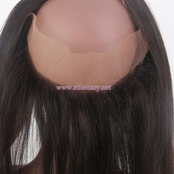 Newest Hair Product Natural Color 1b 100% Indian Human Hair Top Quality Human Hair 360 Lace Frontal For Black Women