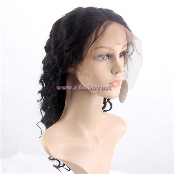 Guangzhou OEM custom acceptable 100 human hair lace front wigs curly wholesale