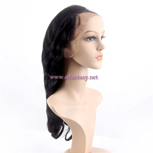 ST wholesale 20 inch body wave human hair lace front wig for black women