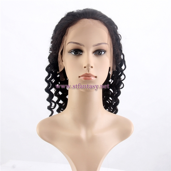 China hair wig vendor wholesale deep wave brazilian hair lace front wig  with baby hair 8eb7dc4aeb