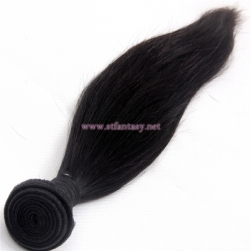 Silky Straight Natural Black 100 Remy Virgin Brazilian Top Quality Hair Extension Human