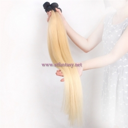 Order Hair From China 28inch 30inch Extra Long 613# Blonde 100% Human Hair Silky Straight Human Hair Extension