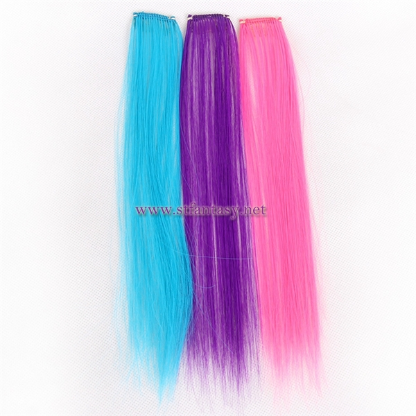Fantasy wig manufacturer single clip in hair extension used japanese synthetic fiber