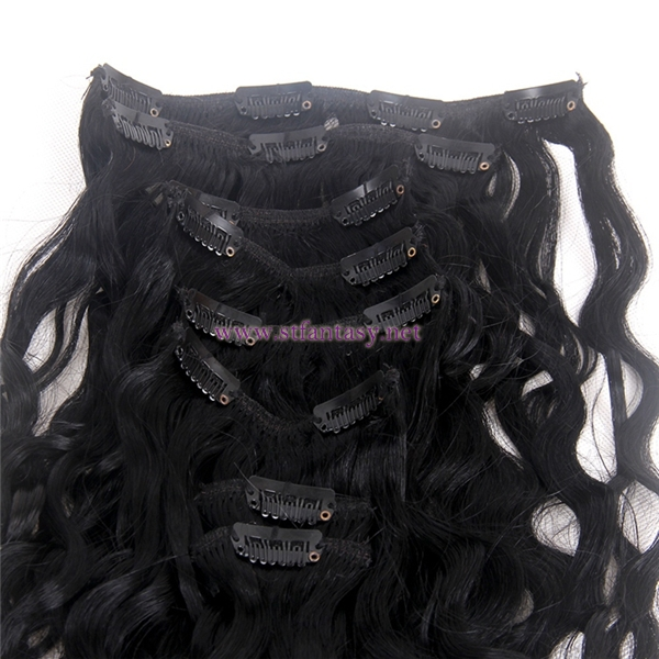 China Human Hair Manufacturers 7 Pieces Clip In Hair Extensions High