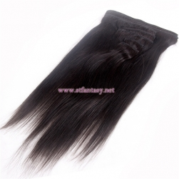 Hair Extension Wholesale Top Quality 7 Sets Hair Pieces Black Straight Virgin Human Hair For Women