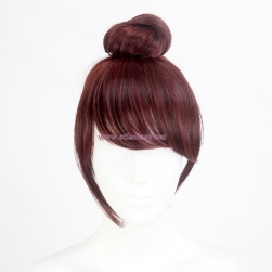 Wholesale Synthetic Hair Wig Breathtakingly Beautiful Brown Bun Wig Display Mannequin Head