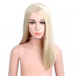 16 Inch Long Straight Kids Wig Good Quality Synthetic Blonde Wig For Girls