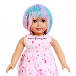 Wholesale Lolita Wig Short Straight Colorful Synthetic Hair 18 Inch Doll Wigs For Sale