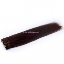 China Human Hair Weft Factory Natural Brown Long Straight Hair Extensions