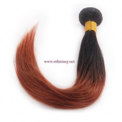 Wholesale Two Tone Color Indian Hair 16inch Straight Human Hair Weave From China